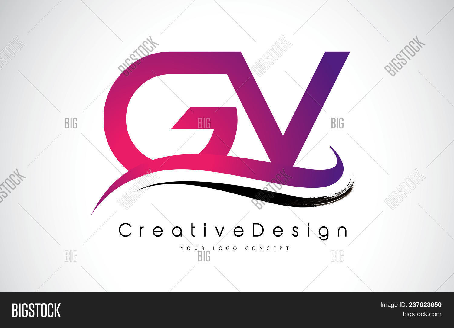 Gv G V Letter Logo Vector & Photo (Free Trial) | Bigstock