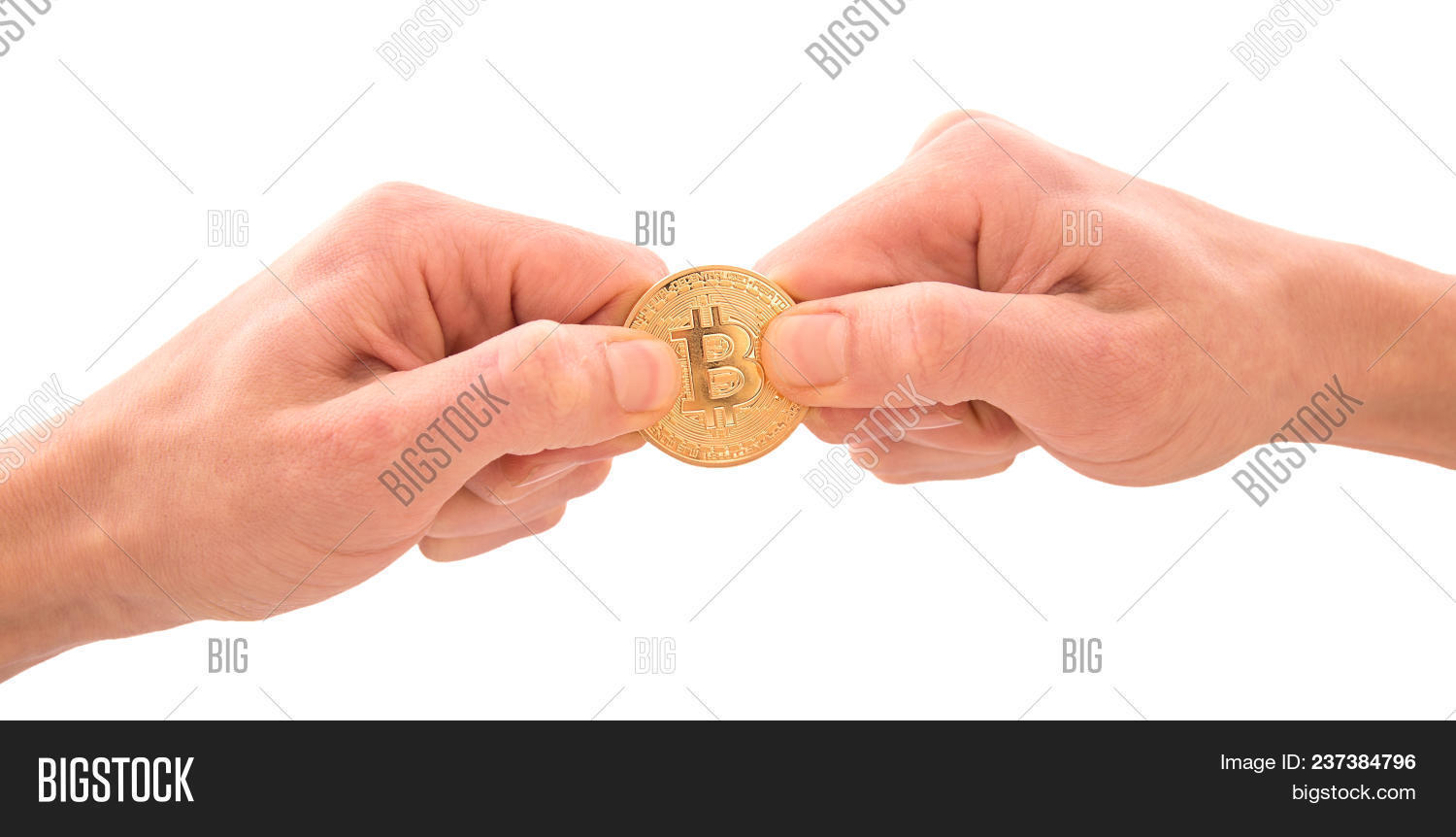 Golden Bitcoin Mans Image Photo Free Trial Bigstock