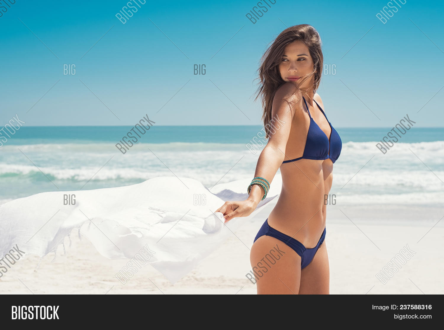 Simply matchless sexy latina on beach