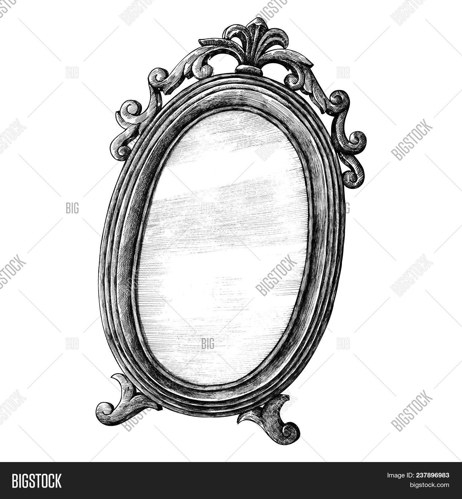 Hand Drawn Mirror Image Photo Free Trial Bigstock