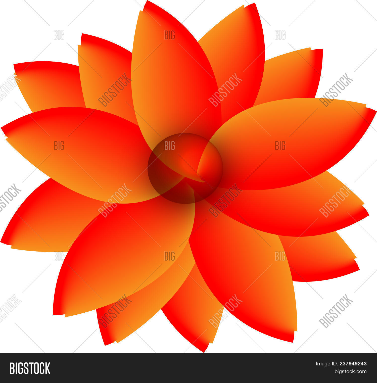 Red Yellow Flower Image Photo Free Trial Bigstock
