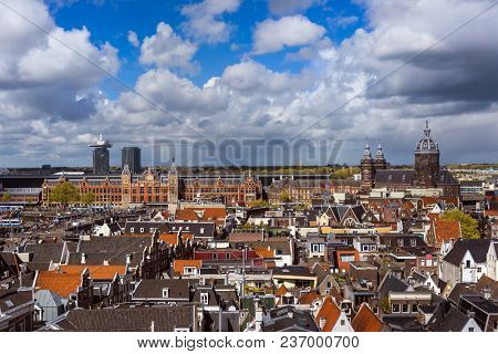 Amsterdam cityscape - Netherlands - architecture background
