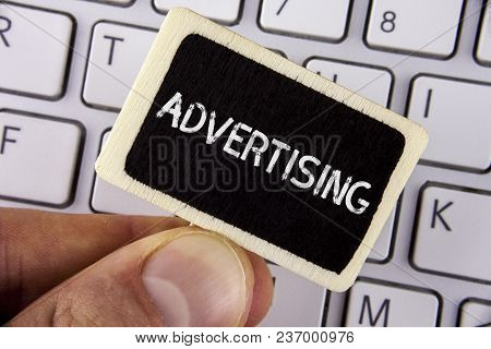 Writing Note Showing  Advertising. Business Photo Showcasing Reach Out World Branding With Digital M