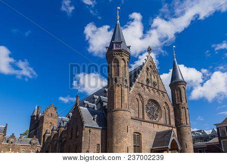 Parliament and court buildings Binnenhof in Hague - Netherlands