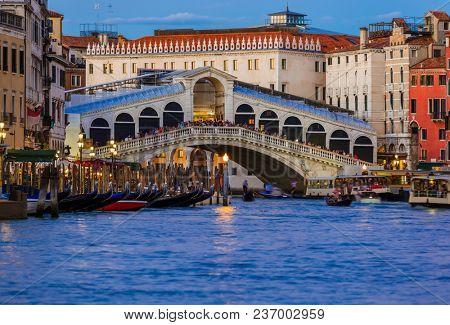 Rialto bridge in Venice Italy - architecture background