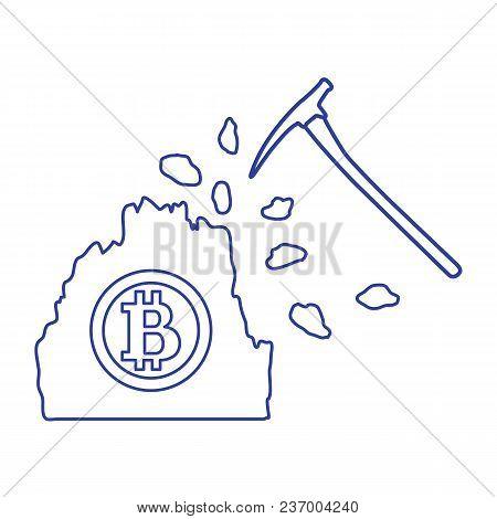 Mining Of Bitcoins. Digital Currency. Blockchain Technology.