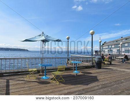 Seattle, Washington, 9/13/2017, Along The Waterfront Of Seattle, Washington