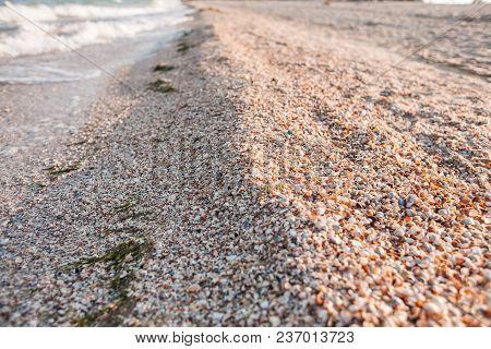 Coast Of The Sea And Wave.