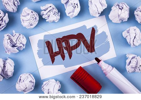 Handwriting Text Hpv. Concept Meaning Human Papillomavirus Infection Sexually Transmitted Disease Il