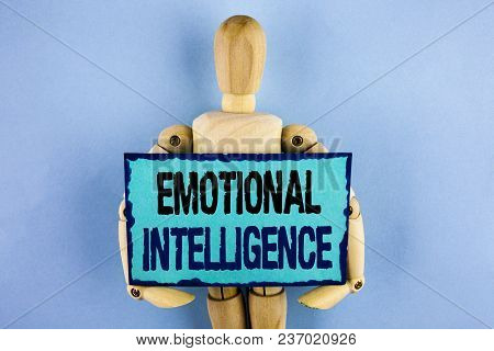 Text Sign Showing Emotional Intelligence. Conceptual Photo Capacity To Control And Be Aware Of Perso
