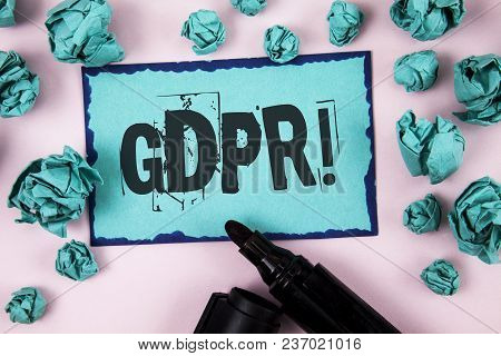 Word Writing Text Gdpr Motivational Call. Business Concept For General Data Protection Regulation In