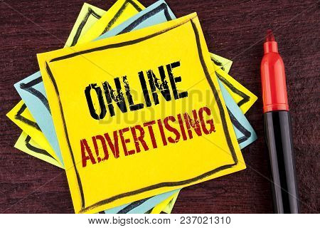 Handwriting Text Online Advertising. Concept Meaning Website Campaigns Ads Electronic Marketing Seo