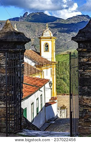 View Of One Of Several Churches And Your Bell Tower In Baroque And Colonial Architecture Of The City