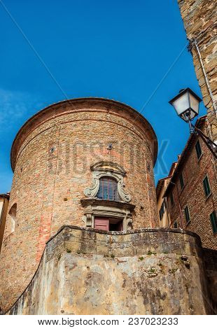 St Benedict Church In The Historic Center Of Cortona In Tuscany, Erected In 1722 With A Characterist