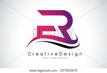 Fr F R Letter Logo Design In Black Colors. Creative Modern Letters Vector Icon Logo Illustration.
