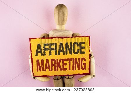 Conceptual Hand Writing Showing Affiance Marketing. Business Photo Text Joining Two Or More Companie