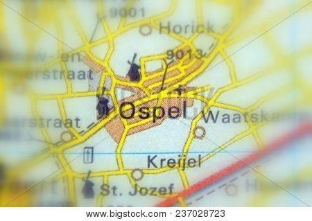 Ospel, A Village In The Province Limburg In The Netherlands (selective Focus).