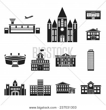 Building Repair Black Icons In Set Collection For Design.building Material And Tools Vector Symbol S