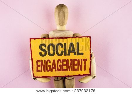 Conceptual Hand Writing Showing Social Engagement. Business Photo Text Post Gets High Reach Likes Ad