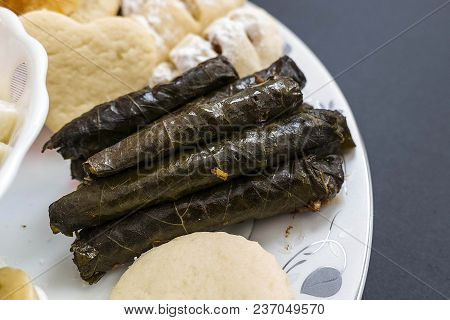 Snacks In A Dish, Cake, Pastry, Stuffed Vine Leaves, Ravioli,