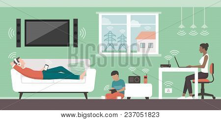 Electromagnetic Fields In The Home And Sources: People Living In Their House And Emfs Emitted By App