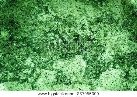 Ultra Green Tin Texture, Steel Wall Surface Or Metallic Aluminium Background.