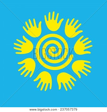 Sun In The Form Of A Spiral. Editable Vector Illustration - Silhouette, Multi-purpose