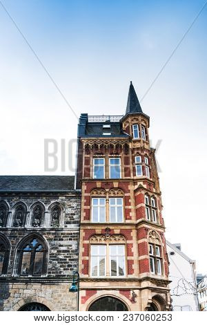 old Town buildings in Aachen, Germany