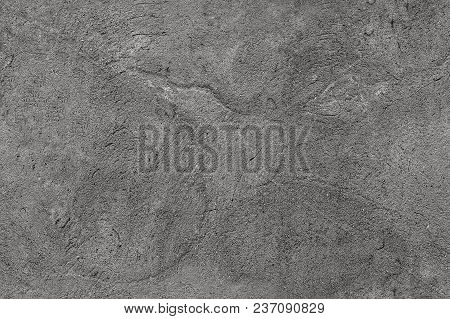 Texture Of A Concrete Surface Based On Sand And Cement With A Crack. Abstract Background, Seamless T