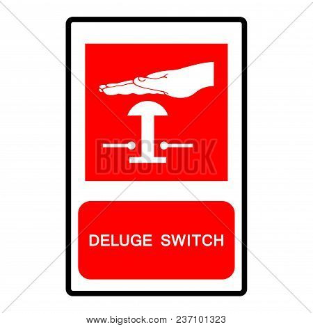 Deluge Switch Symbols, Vector Illustration  Isolate On White Background