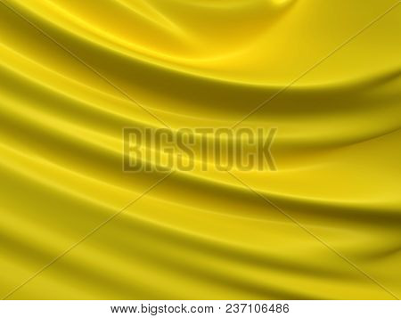 Beautiful Yellow Satin Fabric For Drapery Abstract Background