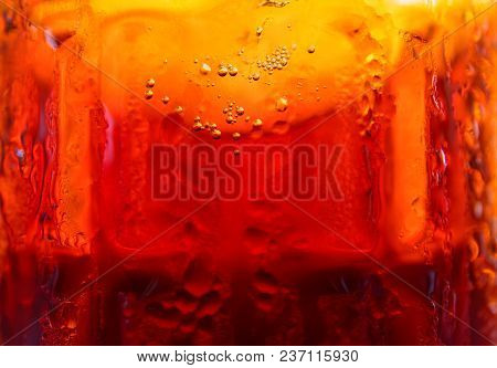 Beer In Glass, Macro Photo. Draft Beer In Glass Texture. Beer Lover Wallpaper. Cold Drink Glass Melt