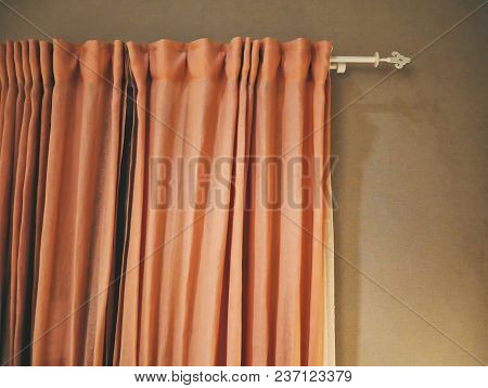 Orange Fabric Cloth Curtain For Room Decoration