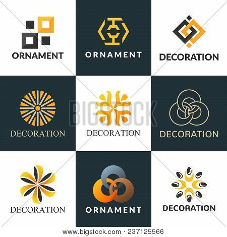 Luxury Logo Set. A Collection Of Logos For Interior. Decoration Logo. Interior Icon. Boutique Logo.