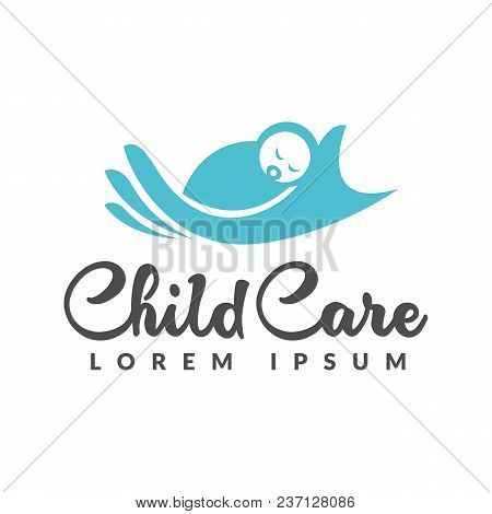 Baby Logo. Baby Care Icon. Mother Hand And Baby Icon. Child Care Logo. Child Care Icon. Mother And B