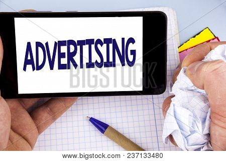 Handwriting Text Writing Advertising. Concept Meaning Reach Out World Branding With Digital Marketin