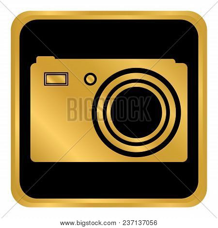 Camera Button On White Background. Vector Illustration.