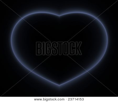 Heart with copy space.