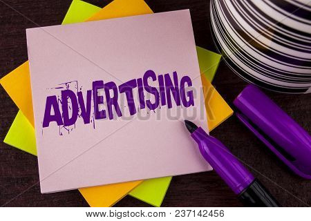 Text Sign Showing Advertising. Conceptual Photo Reach Out World Branding With Digital Marketing Opti