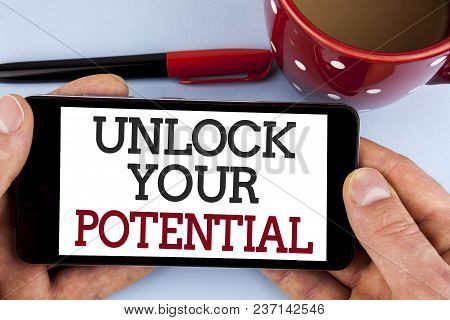 Word Writing Text Unlock Your Potential. Business Concept For Reveal Talent Develop Abilities Show P