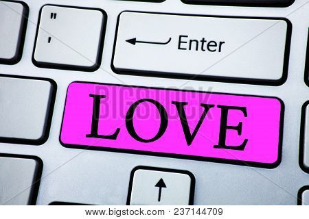 Text Sign Showing Love. Conceptual Photo Intense Feeling Deep Affection Romantic Sexual Attachment R