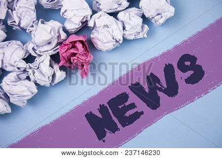 Word Writing Text News. Business Concept For Report Of Recent Events Previously Unknown Information