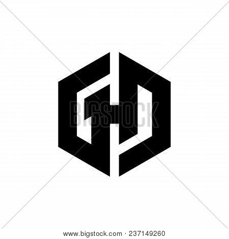 Hexagon - Illustration Of The Concept Of Hexagon Ghd Vector Logo. Hexagon Geometric Polygonal Logo.