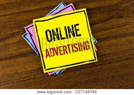 Writing Note Showing  Online Advertising. Business Photo Showcasing Website Campaigns Ads Electronic