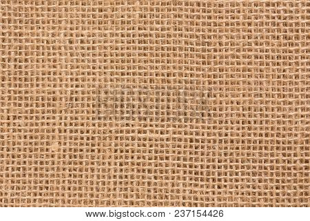 Hessian Sackcloth Woven Texture Pattern Background In Light Cream Beige Brown Color Tone: Eco Friend