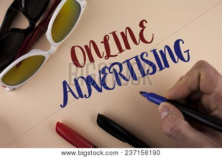 Text Sign Showing Online Advertising. Conceptual Photo Website Campaigns Ads Electronic Marketing Se