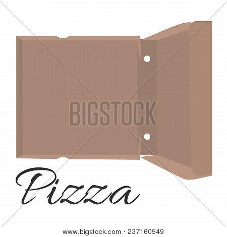 Cardboard Box For Pizza. Vector Illustration Open