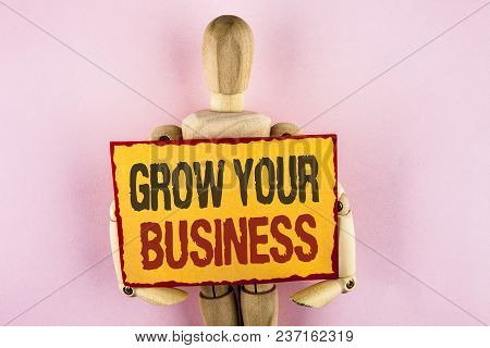 Conceptual Hand Writing Showing Grow Your Business. Business Photo Text Improve Your Work Enlarge Co