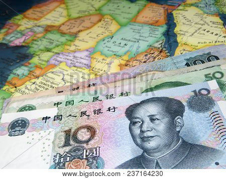 Yuan On The Map Of Africa. Chinese Investment In The African Economy