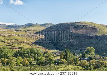 Golden Gate Highlands National Park, South Africa - March 12, 2018: Glen Reenen Rest Camp In The Gol